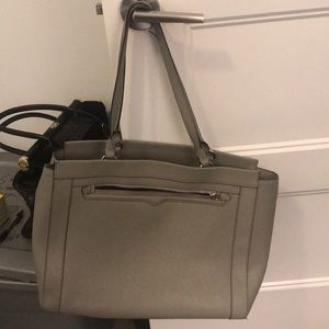 Rebecca Minkoff Gray Laptop Shoulder Bag